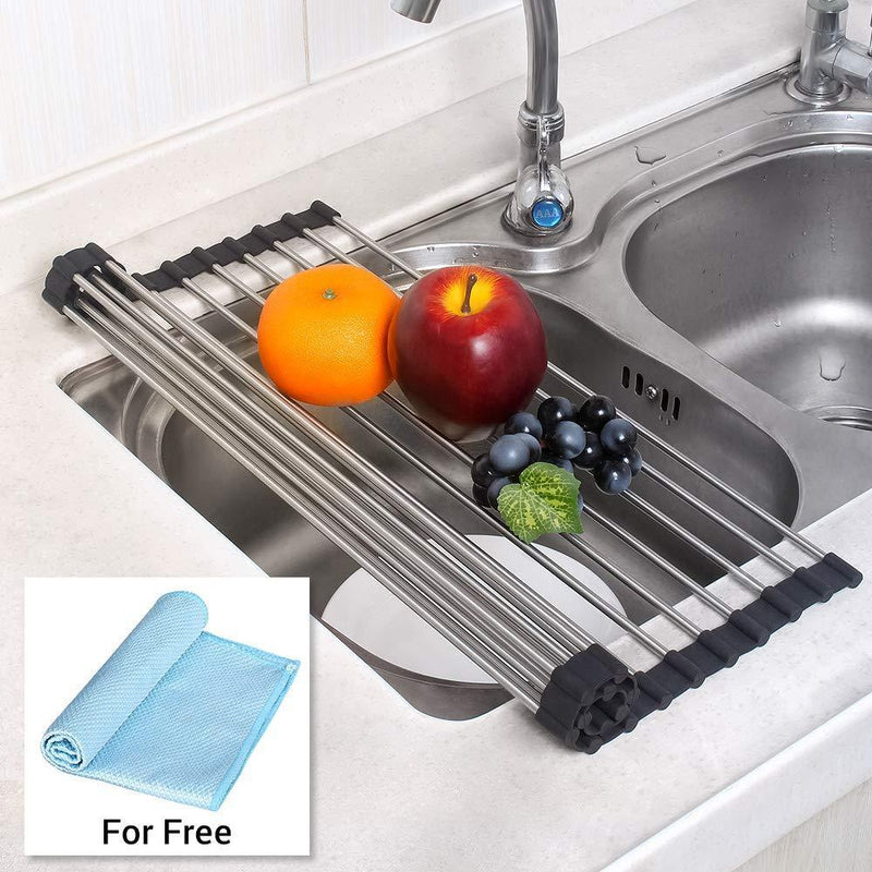 NEX Over the Sink Roll Up Dish Drying Rack