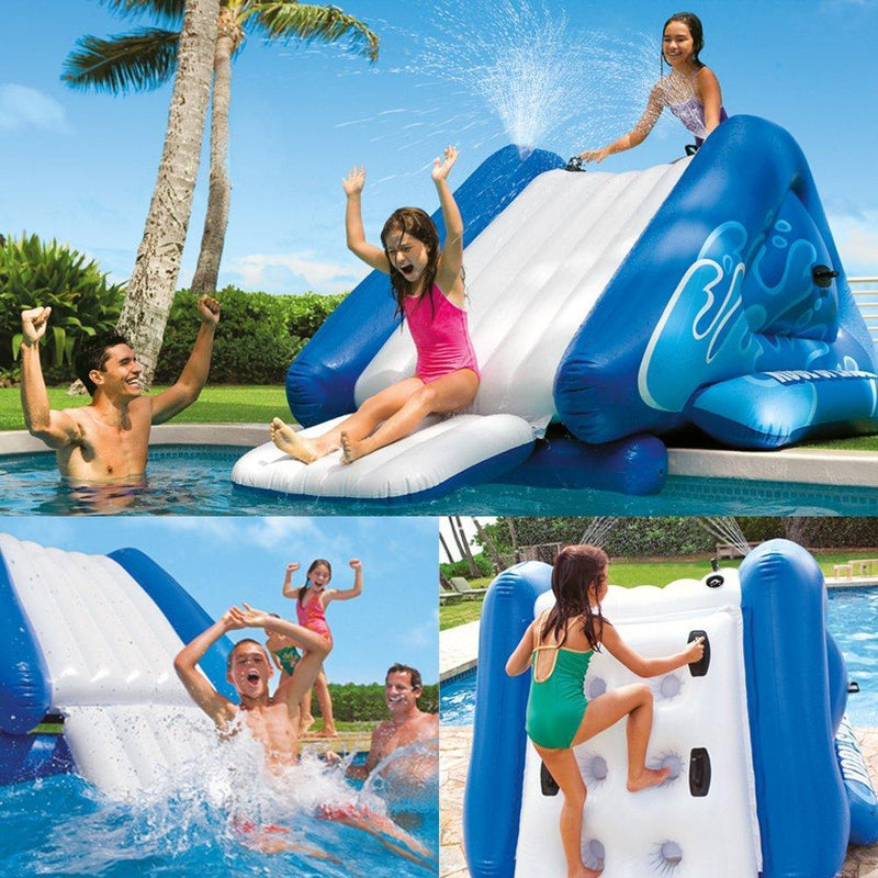 "Intex Water Slide Inflatable Play Center, 135"""" X 81"""" X 50"""", for Ages 6+"