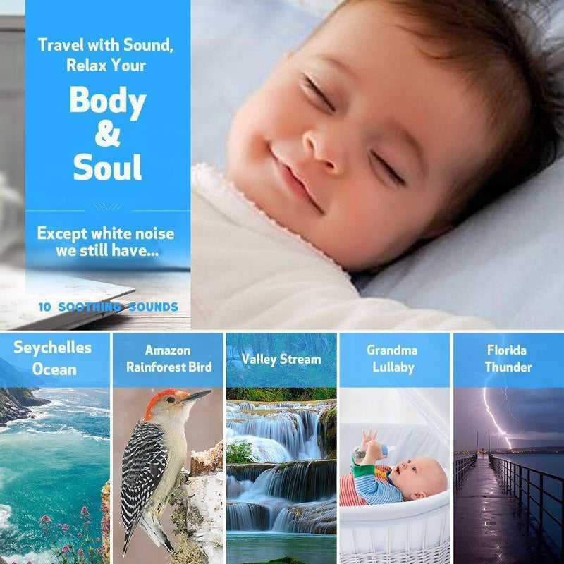 White Noise Machine for Sleeping, Sound Machine with Night Light Portable Natural Sleep Sound Therapy Sound Machine Travel Sleep Auto-Off Timer for Baby Kids Adults...