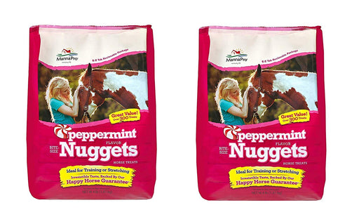 Manna Pro Peppermint Nuggets Horse Treats, 4 Pounds Each