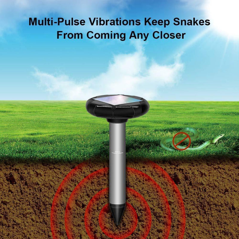 Refastmon Solar Powered Snake Repellent for Outdoors, Snake Away Thats Safe for Dogs, Electronic Snake Repellent, Solar Snake Repeller 4-Pack