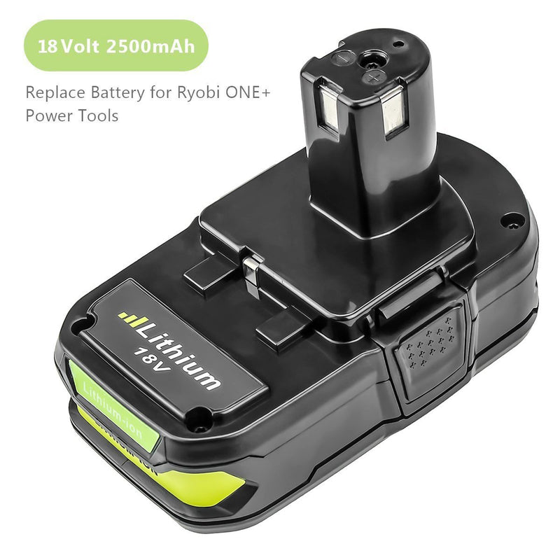 P102 2500mAh Replace for Ryobi 18V Lithium Ion Battery P104 P105 P102 P103 P107 P108 for Ryobi 18-Volt ONE+ Plus Power Tool Battery
