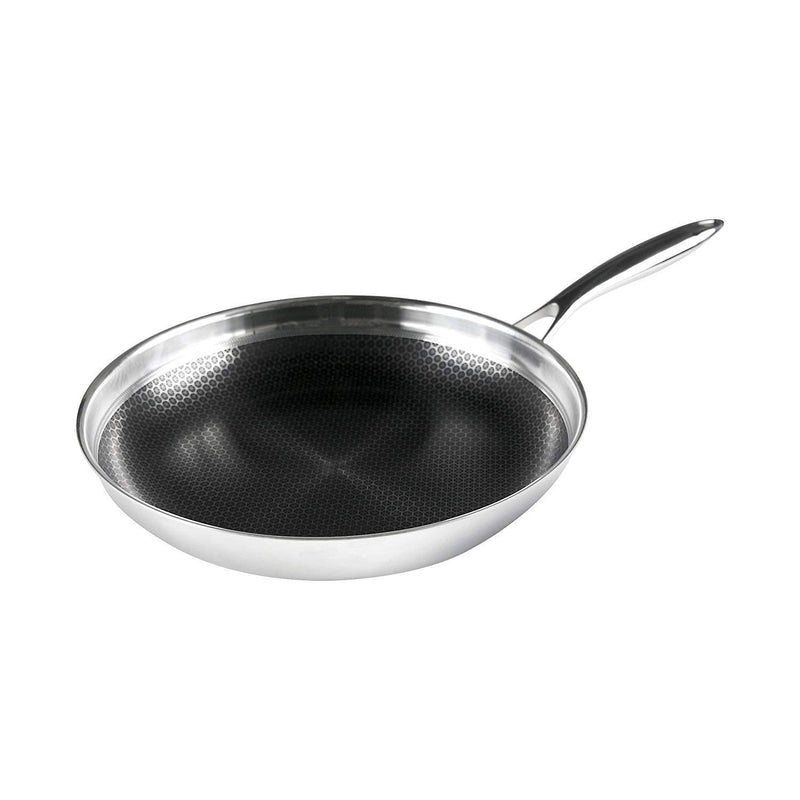 Frieling USA Black Cube Hybrid Stainless/Nonstick Cookware Fry Pan, 11-Inch