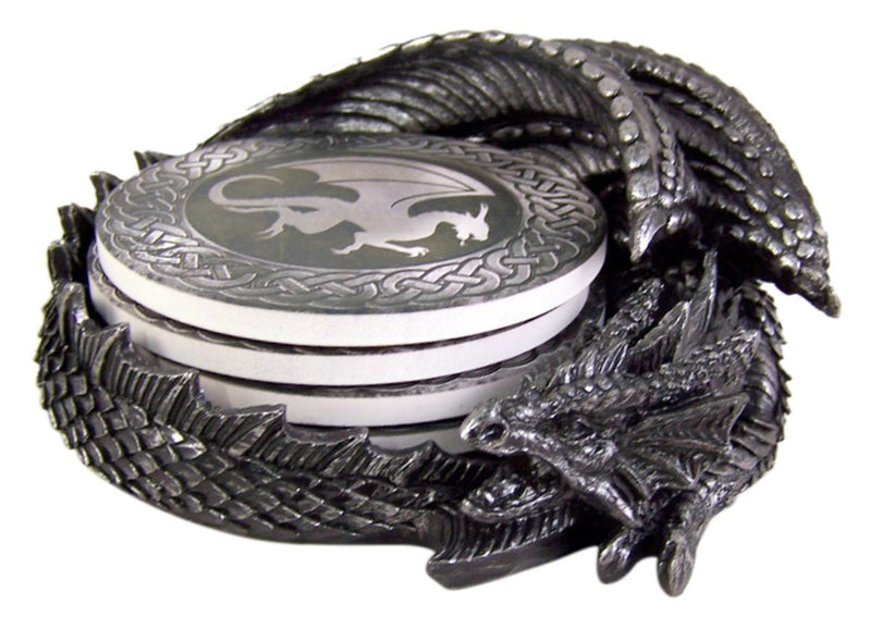 Dragon Coaster Holder With 4 Coaster Set