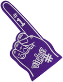 Astek 18 Inch We're Number 1 Finger Team Color Cheerleading Foam Hand Pompom for Sports