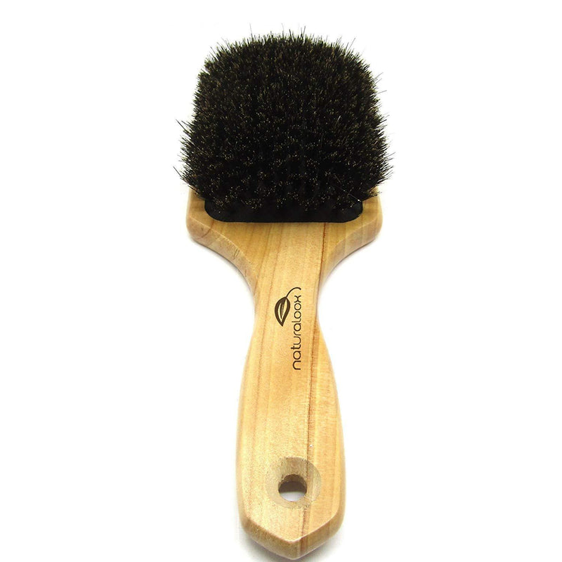 Naturaloox Pure 100% Natural Boar Bristle Paddle Hair Brush For Healthy Hair Distribute Natural Oils & Stimulate Scalp, Improve Hair Growth, Naturally Conditions Hair, Preventing Frizzy, Hair Loss