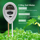 Soil Moisture Meter - 3 in 1 Soil Test Kit Gardening Tools PH, Light & Moisture, Plant Tester Home, Farm, Lawn, Indoor & Outdoor (No Battery Needed)