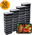 MuBoc-Meal Prep Containers, 50 Pack Bento Boxes Disposable Plastic Bento Insulated Lunch Box Reusable Healthy Food Storage Containers with Lids for Dishwasher Freezer Safe (750ML/ 26 OZ)