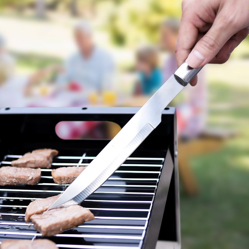 Ordekcity BBQ Grill Tools Set - 5 Piece Grill Accessories Stainless Steel Grill Utensils Set Barbecue Tongs, Complete Outdoor BBQ Accessories