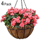 Metal Hanging Planter Basket with Coco Coir Liner 12 Inch Round Wire Plant Holder with Chain Porch Decor Flower Pots Hanger Garden Decoration Indoor Outdoor Watering Hanging Baskets by AMAGABELI GARDEN & HOME
