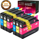 Tuobo 6 Color Compatbile Ink Cartridge Replacement for HP 932XL High Yield, 3 Black, Compatible with HP Officejet 6700 HP Premium 6600 6100 7110 7610 7612 Printer