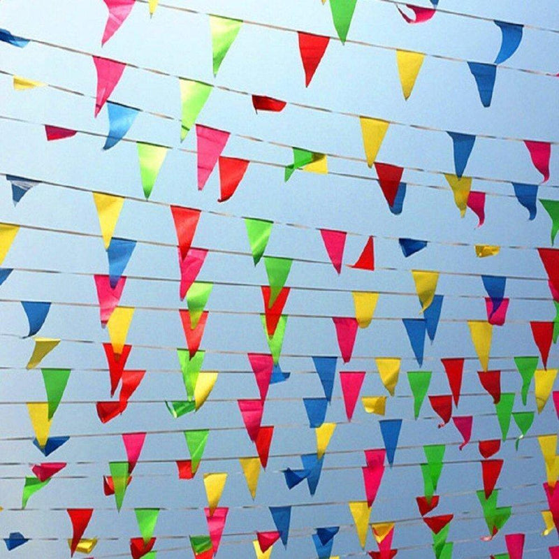 ALEY 750 Feet Multicolor Pennant Banner Flags String,Outdoor Indoor Party Decorations For Grand Opening,Carnival,Wedding,Birthday,Racing Party Celebration Events