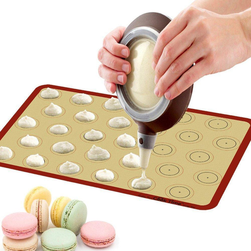 Silicone Baking Mat Cookie Sheet Ste(2) Non-stick Cooking Mat Liner for Macaron Cake Bread Making Microwave Toaster Oven Tray Pan