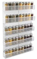 ESYLIFE 5 Tier Wall Mount Spice Rack Organizer Kitchen Spice Storage Shelf - Made of Sturdy Punching Net, White