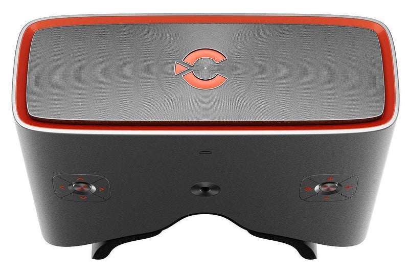 CINERA Dual 2.5K (5K Equivalent) HD Giant Screen 3D Blu-Ray Player Supported 1440P Input Virtual Reality Home Cinema Travel 3D Theater VR Glasses Movie Headset (Jet Black)