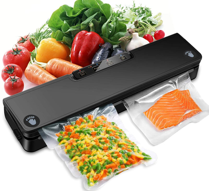 STYFSCP Vacuum Sealer Machine,  Automatic Food Saver vacuum sealer with Air Sealing System, Dry & Moist Modes, Led Indicator Light, Food Vacuum Sealer for Food Preservation with 15 Pack Vacuum Sealer Bags