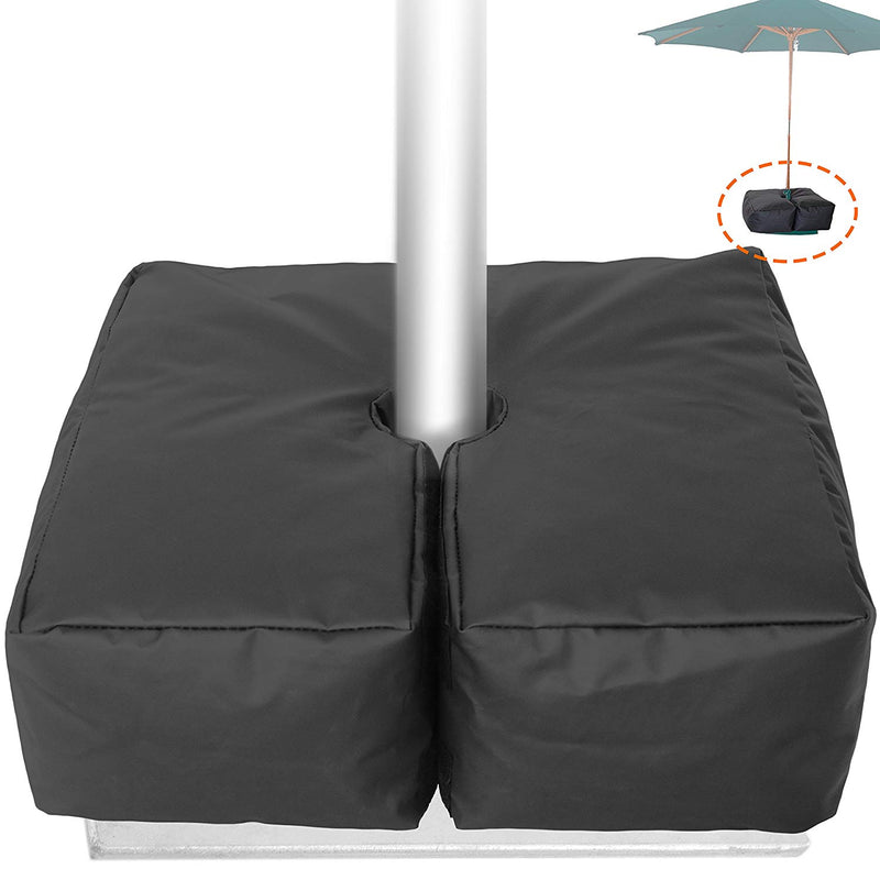 Weather Resistant Weights for Patio Umbrella Base - 19'' Square. for Classic Outdoor Umbrellas, Hanging, Cantilever & Offset Models. Detachable Velcro - Easy Installation. XL Opening for Filling Sand