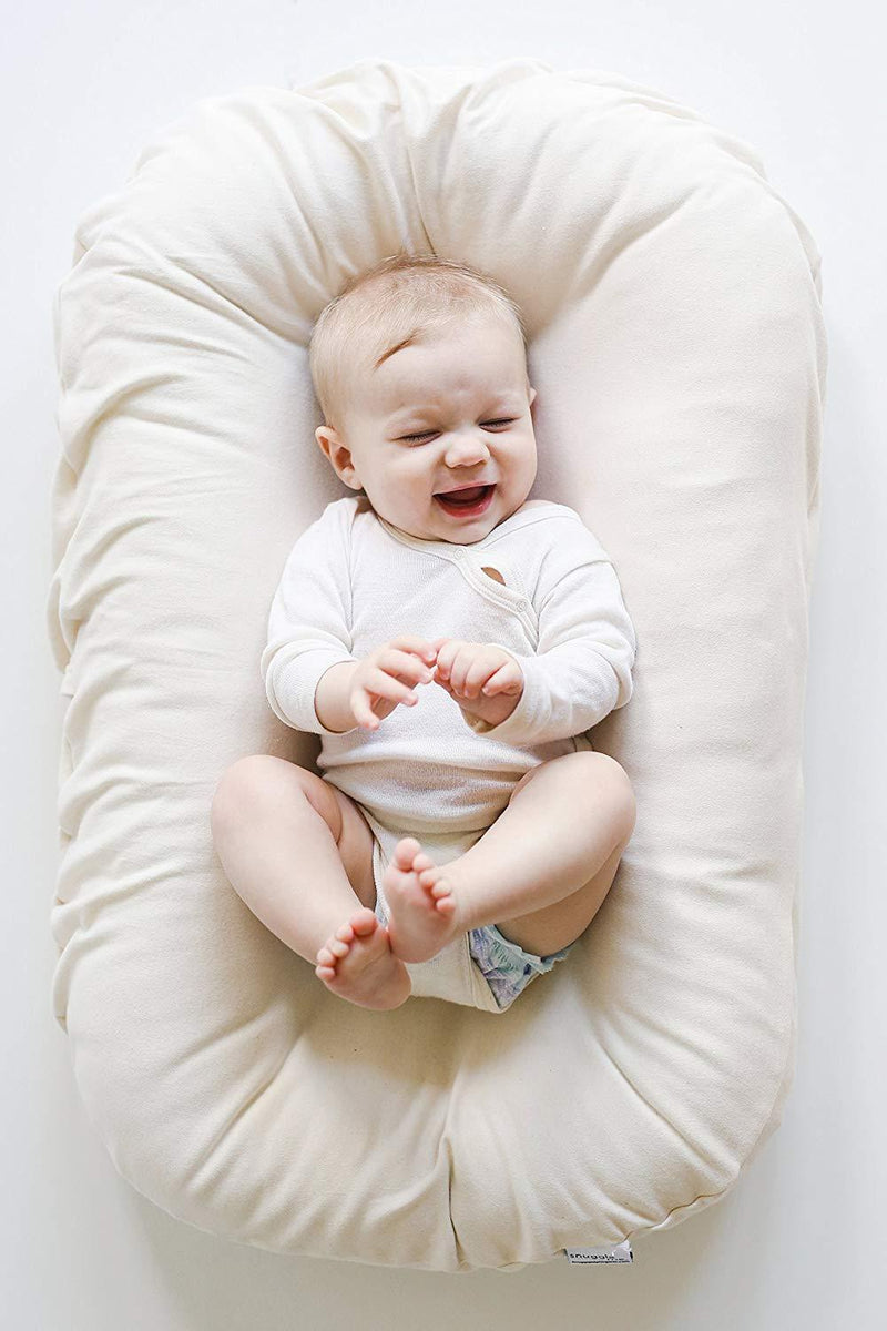 Snuggle Me Wool | Patented Sensory Lounger for Baby | Organic Cotton, Virgin lamb's Wool Fill