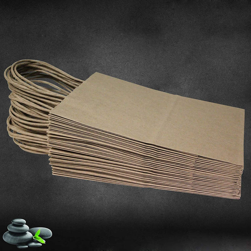 "16""x6""x12"" - 50 Pcs - Brown Kraft Paper Bags, Shopping, Mechandise, Party, Gift Bags"