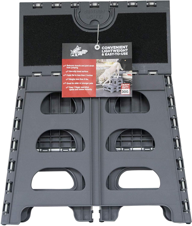 Petstep Gray Folding 2 Step Dog Assist by Range Kleen