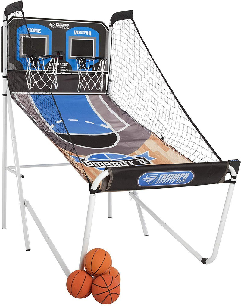 Triumph Big Shot II Double Shootout Basketball Game with LED Electronic Scorer and Time Clock for 8 Different Games