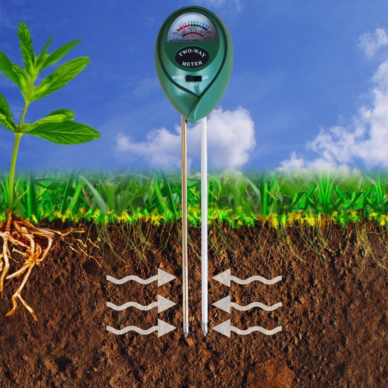 Soil Moisture Sensor Meter, MoonCity 2-in-1 Soil PH acidity Tester, Plant Tester, Great For Garden, Farm, Lawn, Indoor & Outdoor (No Battery needed)