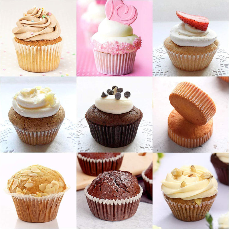 1000PCS White Cupcake Liners, Paper Baking Cups for Cooking Eggs, Meat Dishes Cupcakes, Breads by Awpeye