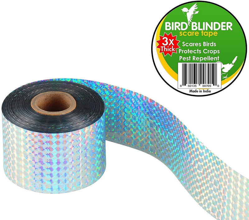 Bird Blinder - Bird Repellent Scare Tape (Triple Thick) - 147 feet x 2 inch Deterrent
