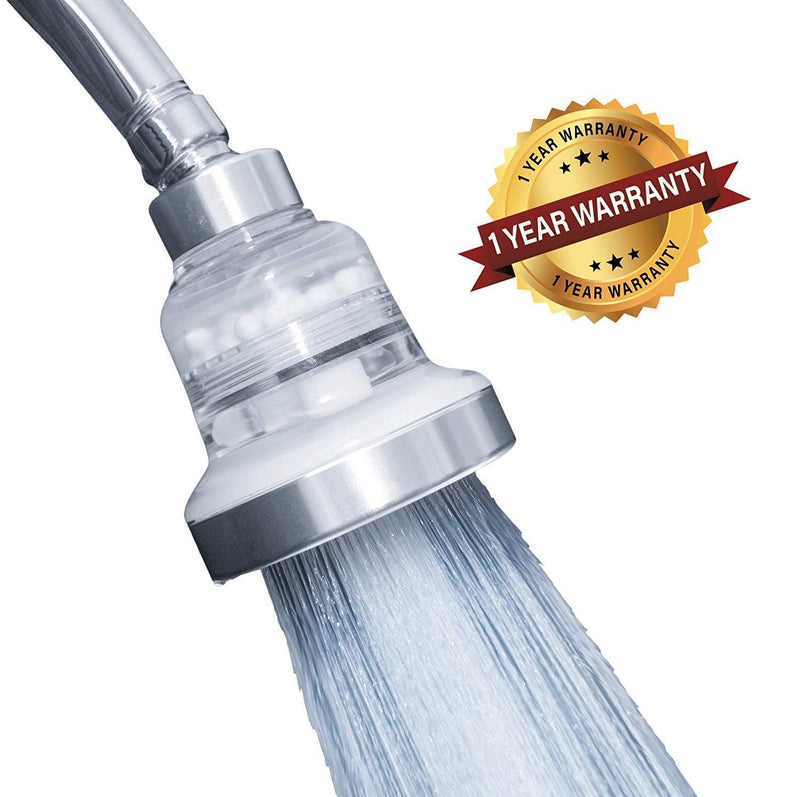 Filtered Shower Head - High Pressure and Water Saving -3 Settings - Reduces Chlorine and Dissolved Solids - The Best Shower Filter for Low Water Pressure - Improved Design WITH METAL COMPONENT PARTS