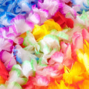 Nehearte Hawaiian Leis Party Decorations - Tropical Hawaii Silk Flower Necklace 50 PCs Luau Beach Pool Party Theme Accessories - for Birthday Party Holiday Favors
