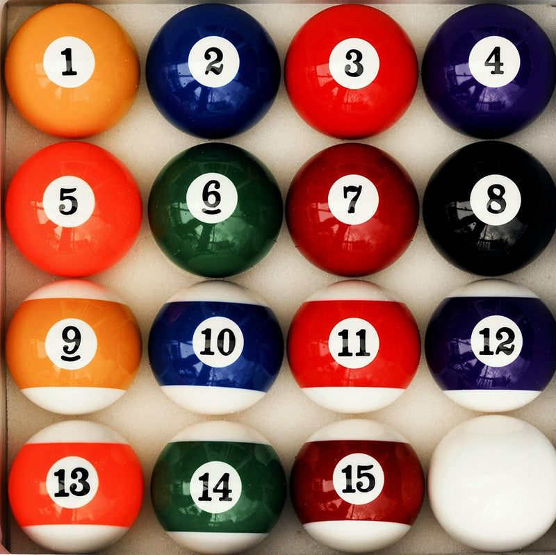 Pool Table Billiard Ball Set, Art Number Style