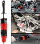 7Pcs Wheel & Tire Brush , car detailing kit , 17inch Long Soft Wheel Brush 5 car wash detail brush car wash kit for Cleans Dirty Tires & Releases Dirt and Road Grime, Short Handle for Easy Scrubbing