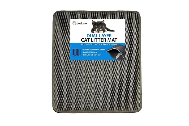 "JUDONO Dual Layer Cat Litter Mat - Extra Large 30"" x 24"""
