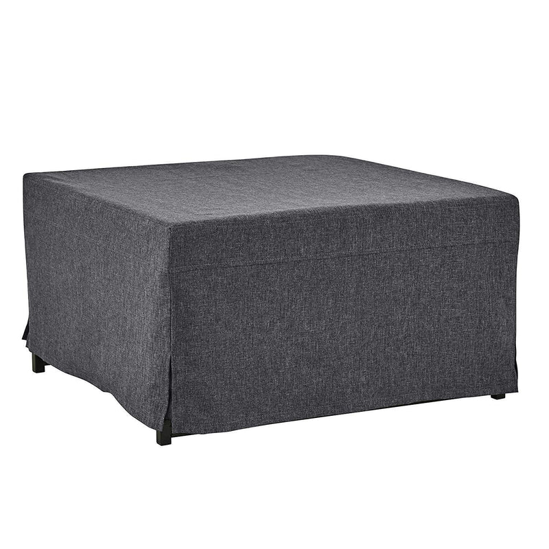 Handy Living Space Saving Folding Ottoman Sleeper Guest Bed, Gray/Brown, Twin