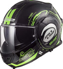 LS2 Helmets Motorcycles & Powersports Helmet's Modular Valiant (Black Light Green (Glow in the Dark), X-Large)