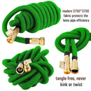 "Nifty Grower 100ft Garden Hose - All New Expandable Water Hose with Double Latex Core 3/4"" Solid Brass Fittings Extra Strength Fabric - Flexible Expanding Hose with Storage Bag for Easy Carry"