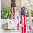 Homarden 40 Inch American Flag Windsock (Set of 2) - Outdoor Hanging 4th of July Decor - Premium Materials with Embroidered Stars - Fade Resistant Wind Socks for All Weather
