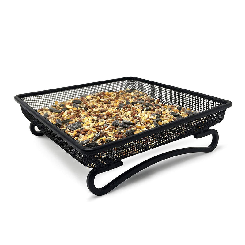 Gray Bunny GB-6889 Ground Bird Feeder Tray for Feeding Birds That Feed Off The Ground ! Durable and Compact Platform Bird Feeder Dish Size 7 x 7 x 2 inches
