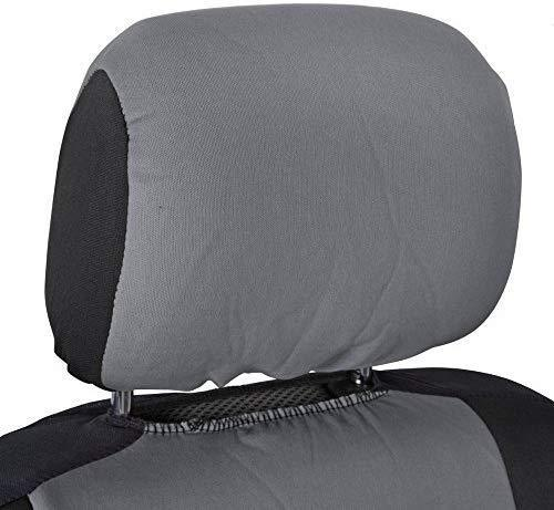 BDK OS-309-BG Polypro Black/Car Seat Cover, Easy Wrap Two-Tone Accent for Auto, Split Bench, Tan Beige