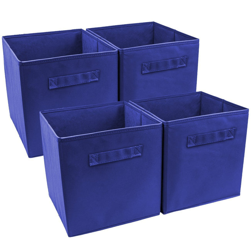 Sorbus Storage Cube Basket Bin, 6 Pack Navy Blue