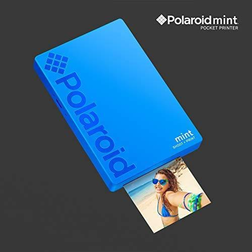 Polaroid Mint Pocket Printer W/ Zink Zero Ink Technology & Built-In Bluetooth for Android & iOS Devices - Black
