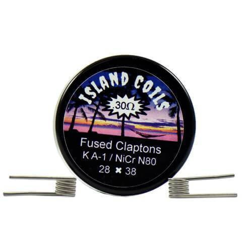 Island Coils by Island Vapezz - Fused Clapton - 0.3 ohm (2 Pack) - Known Distro