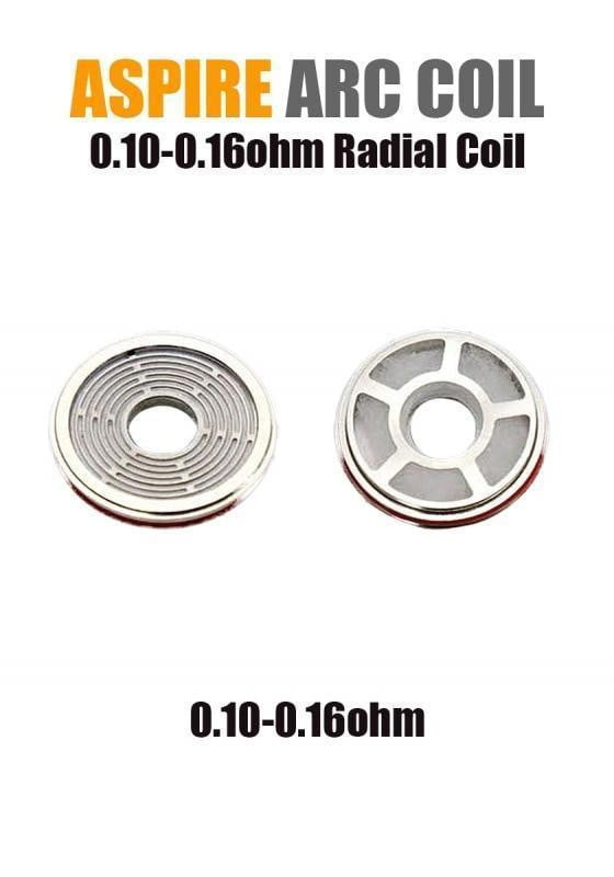 Aspire Radial Coil (ARC Technology - 0.10/0.16ohm) (3-pack) - Known Distro