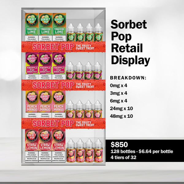 SORBET POP COUNTER DISPLAY - Known Distro