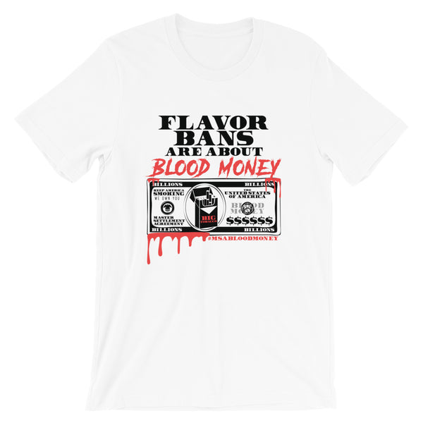 BLOOD MONEY Short-Sleeve Unisex T-Shirt - WHITE - Known Distro