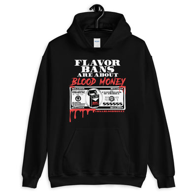 BLOOD MONEY Hooded Sweatshirt - BLACK - Known Distro