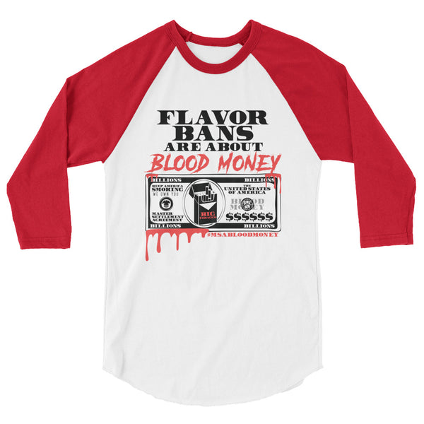 BLOOD MONEY 3/4 sleeve raglan shirt - Known Distro