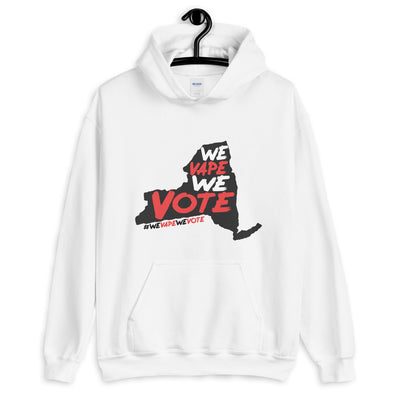 WE VAPE WE VOTE NY - Hooded Sweatshirt - LIGHT - Known Distro