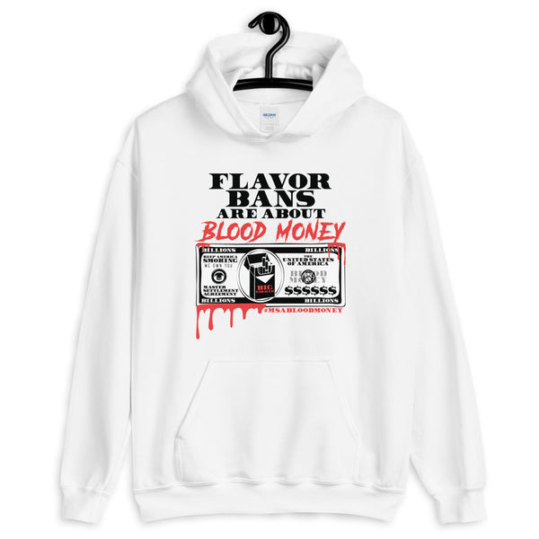 BLOOD MONEY Hooded Sweatshirt - WHITE - Known Distro