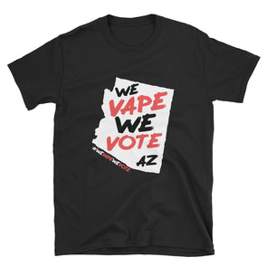 WE VAPE WE VOTE AZ Short-Sleeve Unisex T-Shirt - DARK